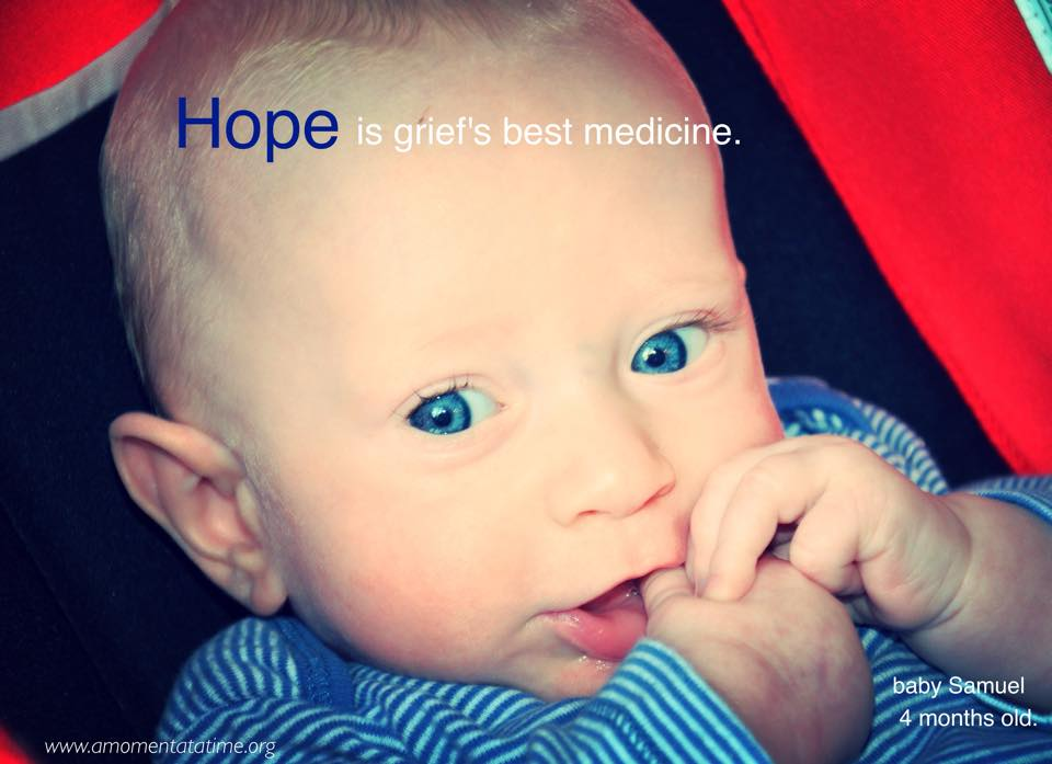Hope is grief's best medicine. Thank you Lord for this precious blessing of joy and hope...